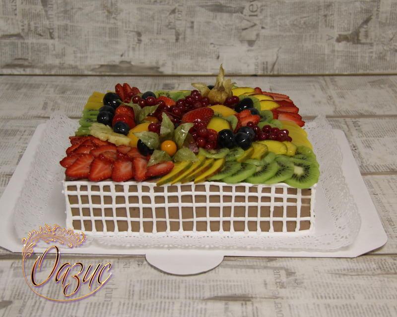 Торт фруктовый сад